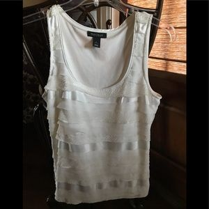 Sleeveless White House Black Market Shirt